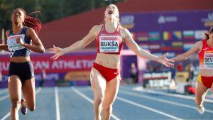 Sindija Bukša triumfē Eiropas U23 čempionātā. Foto- Reuters_Scanpix
